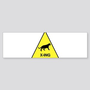 Big Cat Crossing Sticker (Bumper)